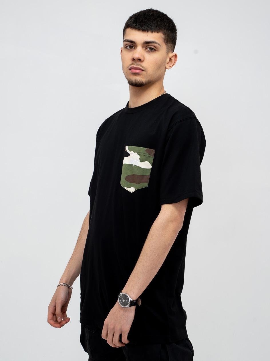 Koszulka Z Krótkim Rękawem Mass Creep LTD Czarna / Camo