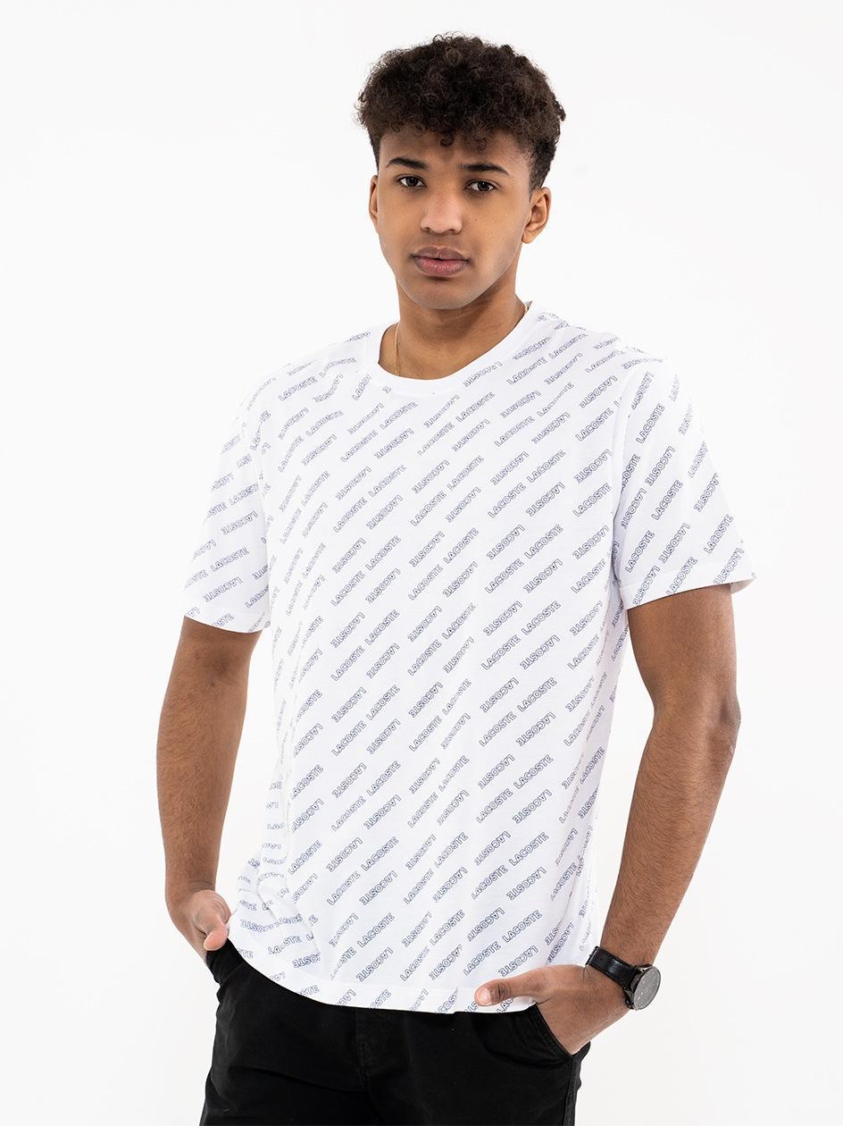 Koszulka Z Krótkim Rękawem Lacoste Multilogo Biała