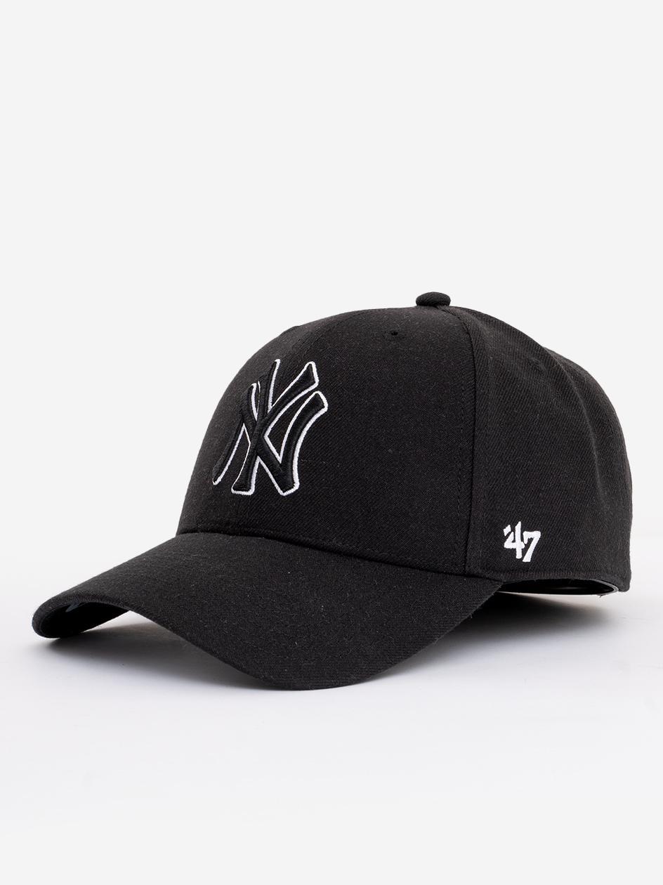 Czapka Z Daszkiem Snapback 47 Brand New York Yankees MVP Czarna / Biała