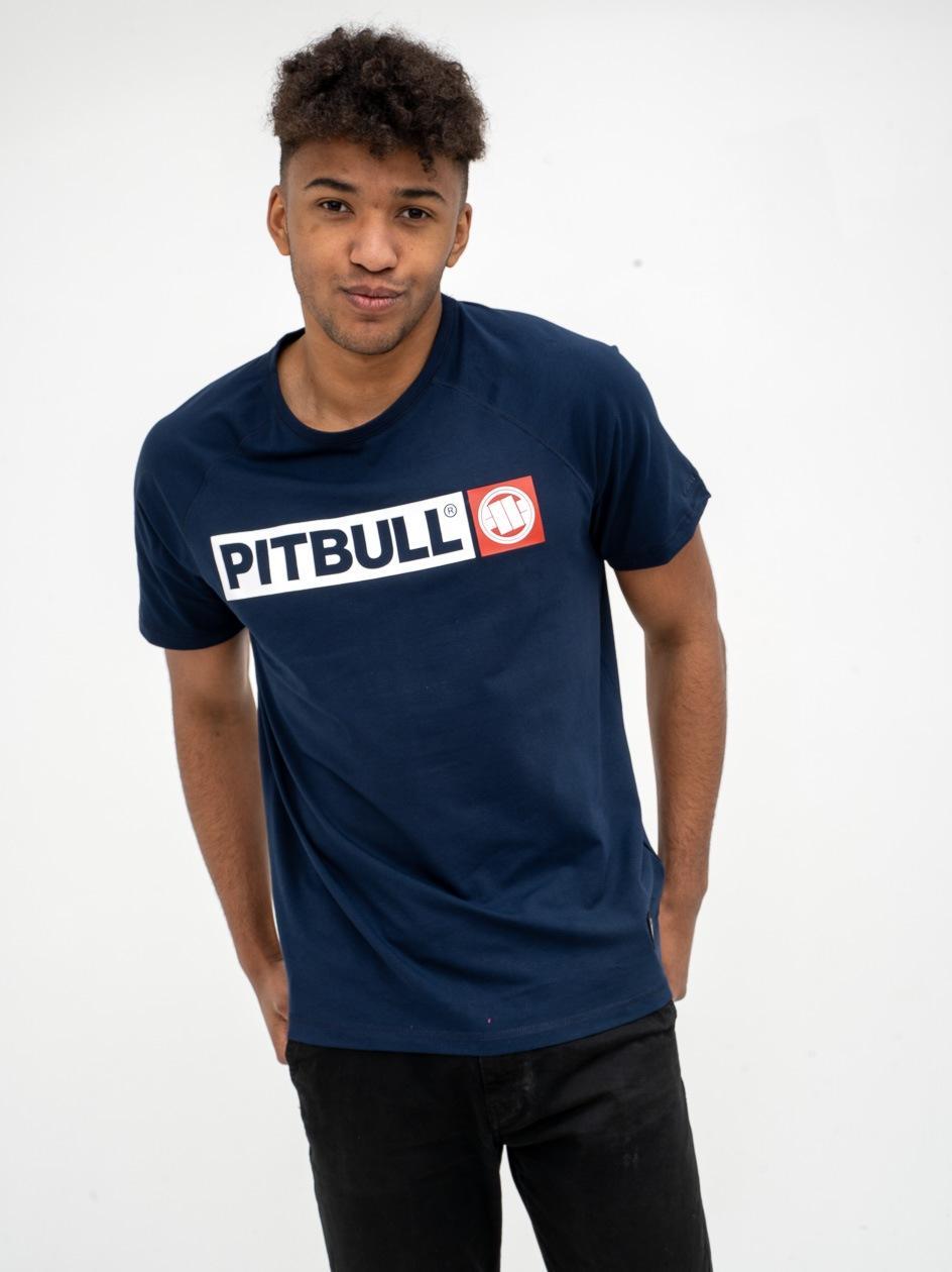 Koszulka Z Krótkim Rękawem Pitbull West Hilltop Granatowa