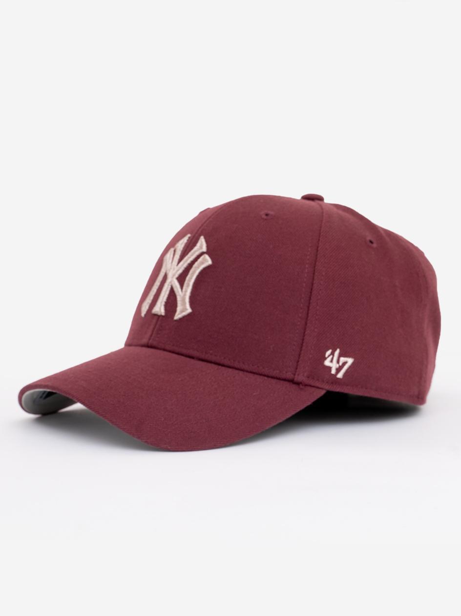 Czapka Z Daszkiem Snapback 47 Brand New York Yankees MVP Metallic Bordowa