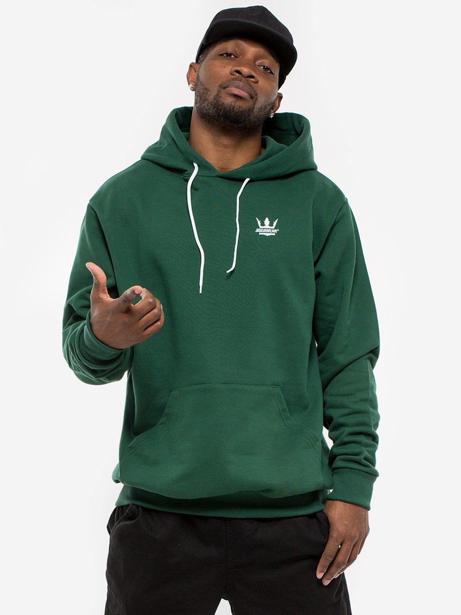 Bluza Z Kapturem Jigga Wear Crown Ciemna Zielona