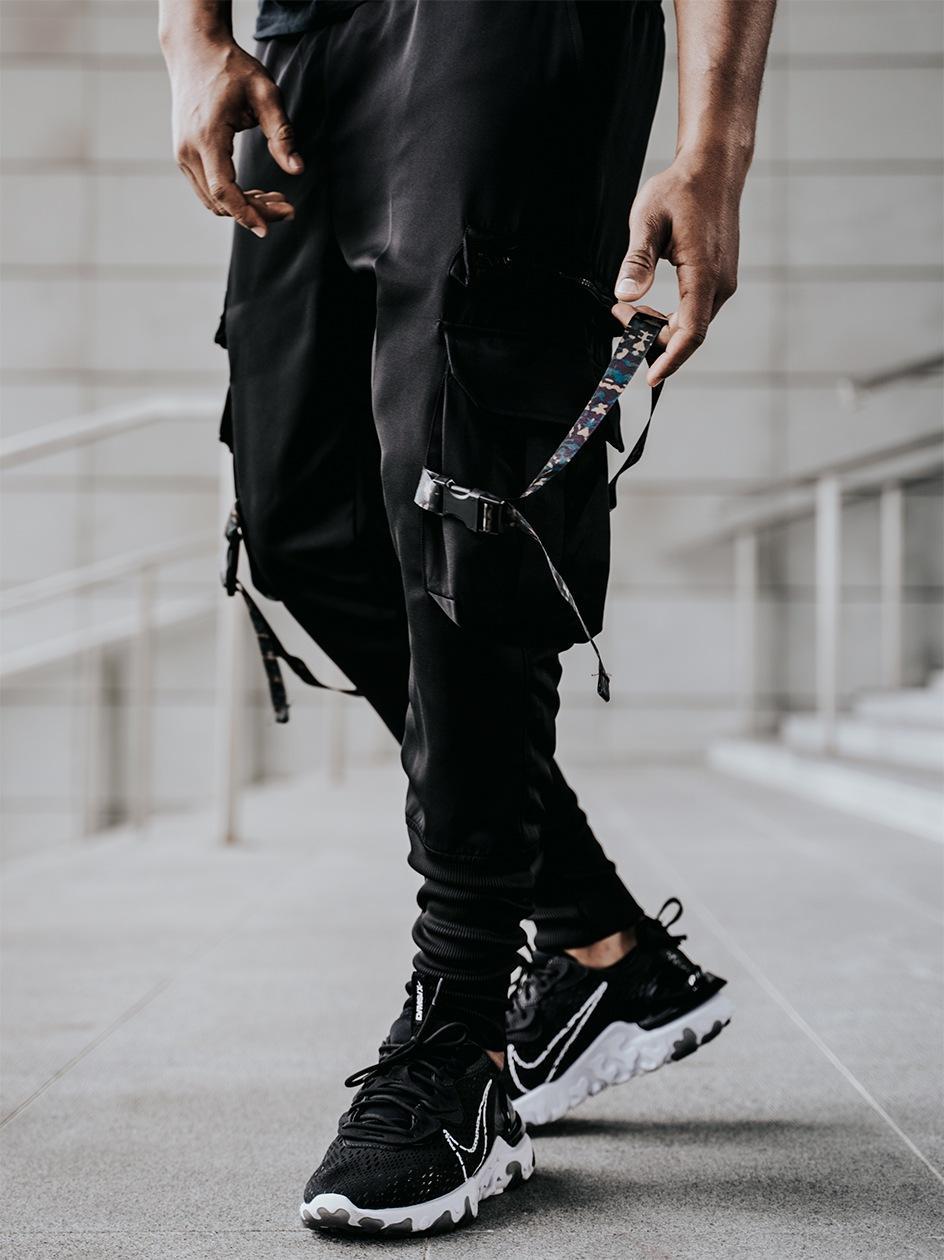 Spodnie Materiałowe Jogger UrbanCity Clip Cargo Czarne / Camo