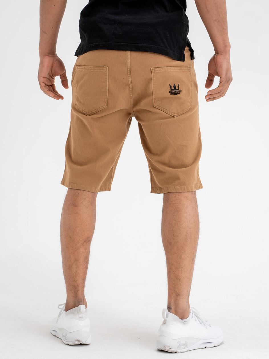Krótkie Spodenki Ze Ściągaczem Jigga Wear Crown Stitch Brązowe / Czarne