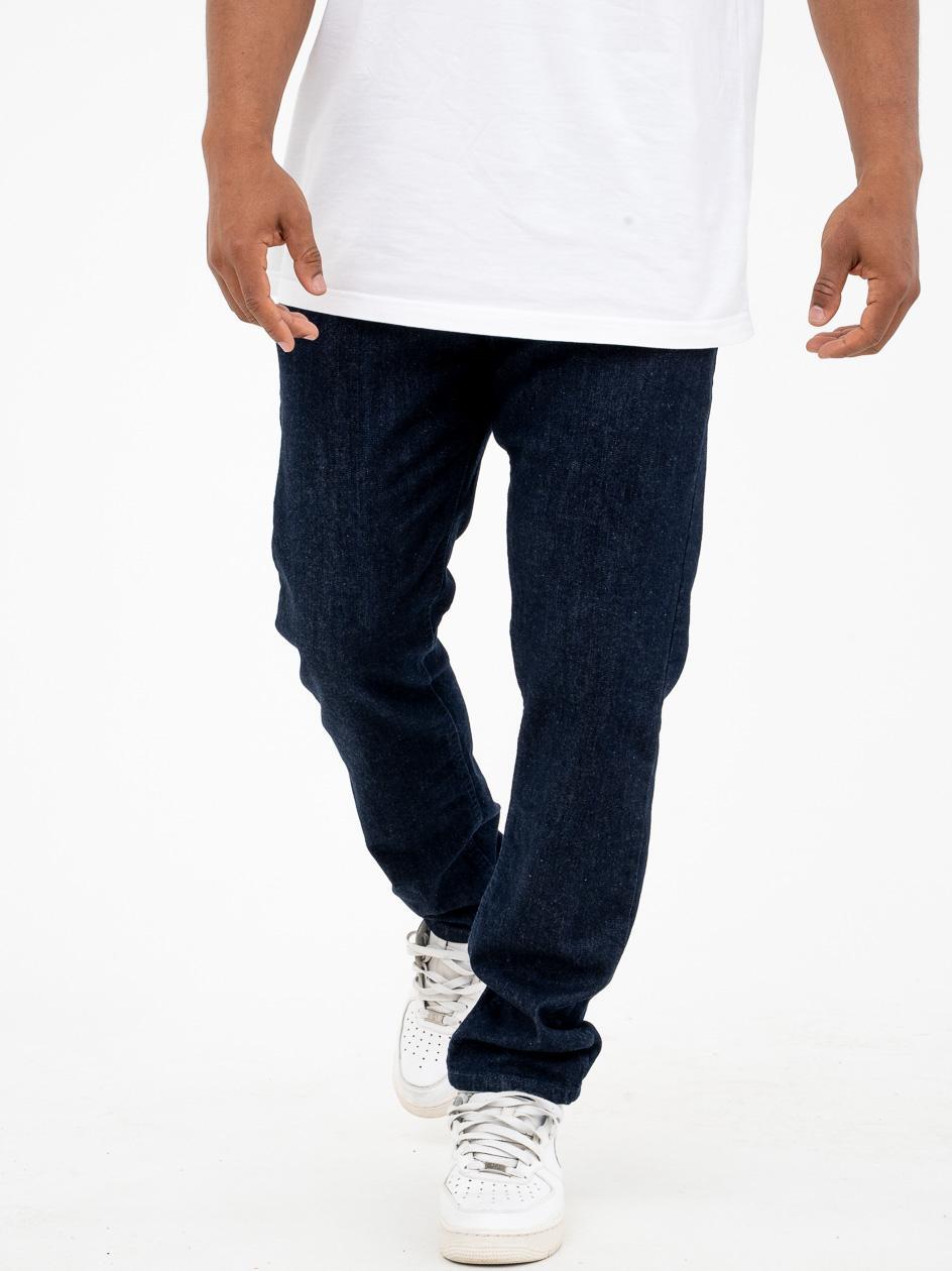 Spodnie Jeansowe Baggy El Polako Classic Back Ciemne Niebieskie