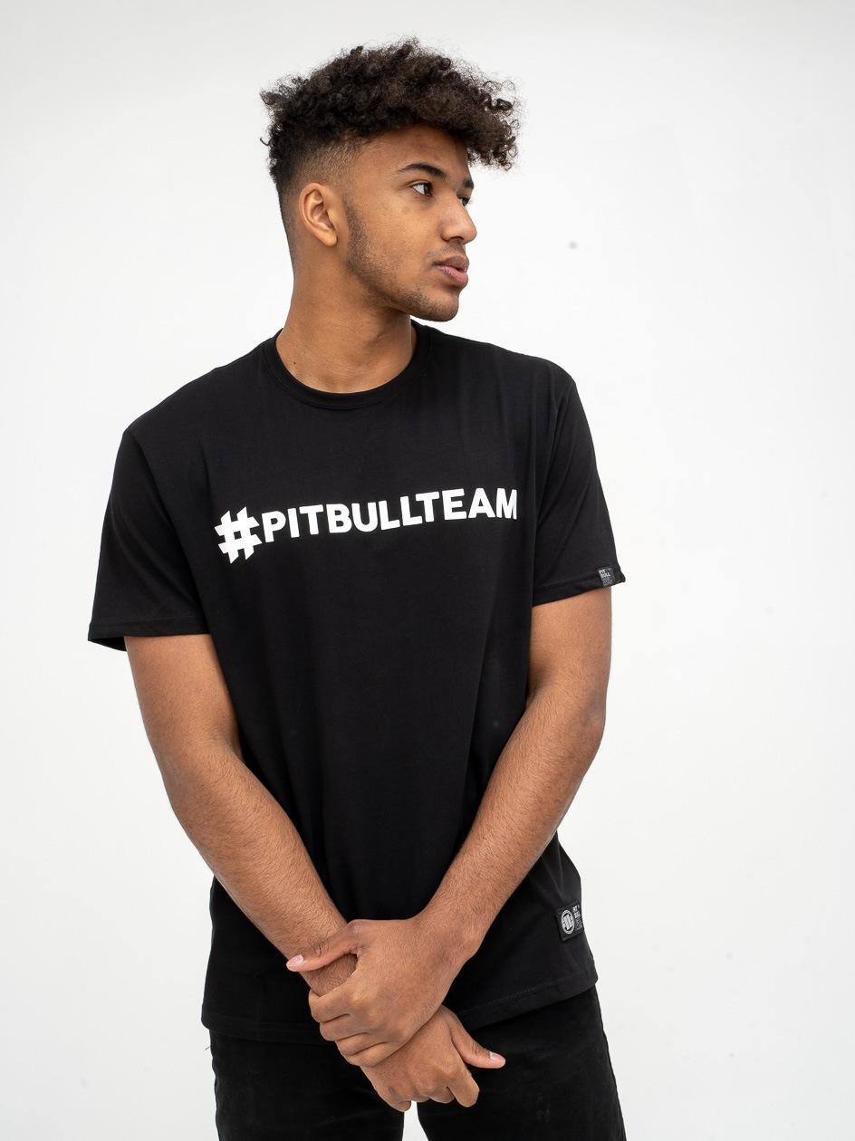 Koszulka Z Krótkim Rękawem Pitbull West Coast Hashtag Czarna