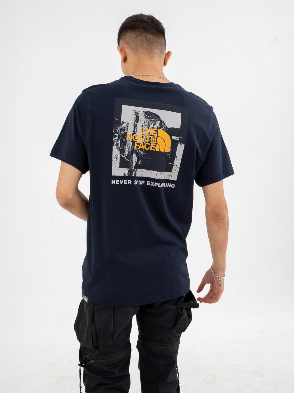 Koszulka Z Krótkim Rękawem The North Face New Climb Ciemna Granatowa