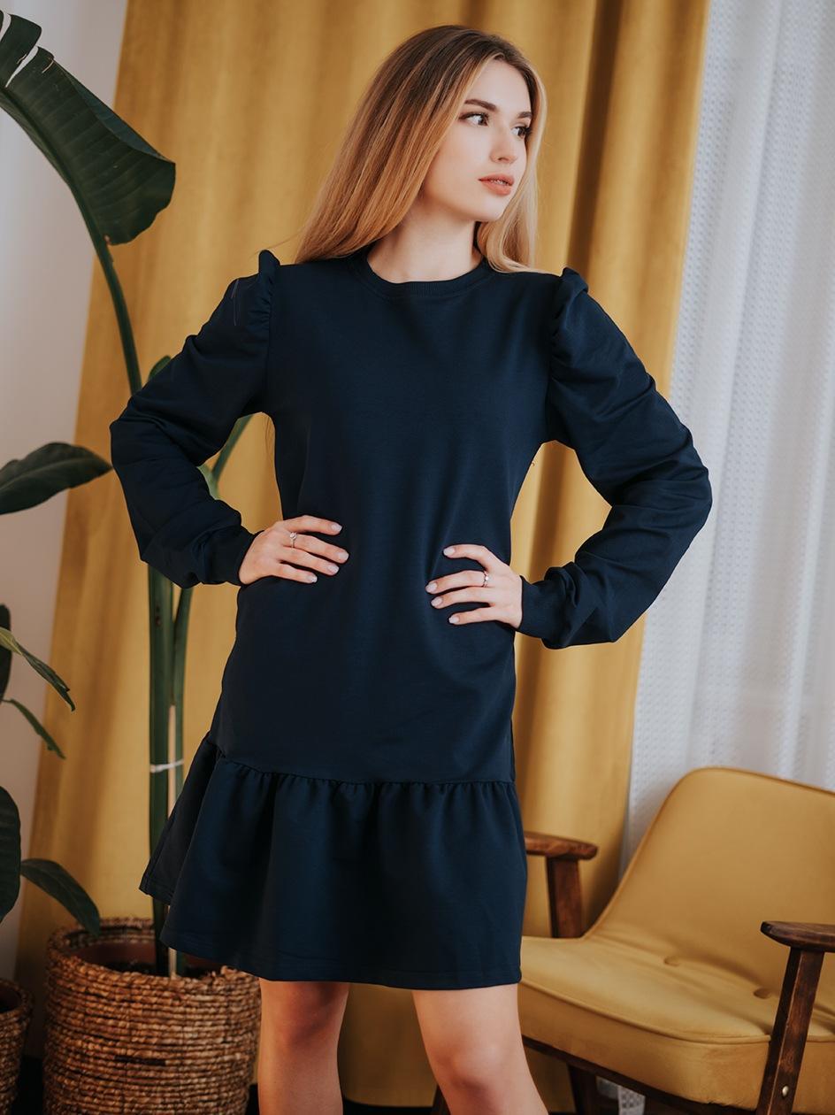 Sukienka Z Długim Rękawem Point X Twist Granatowa