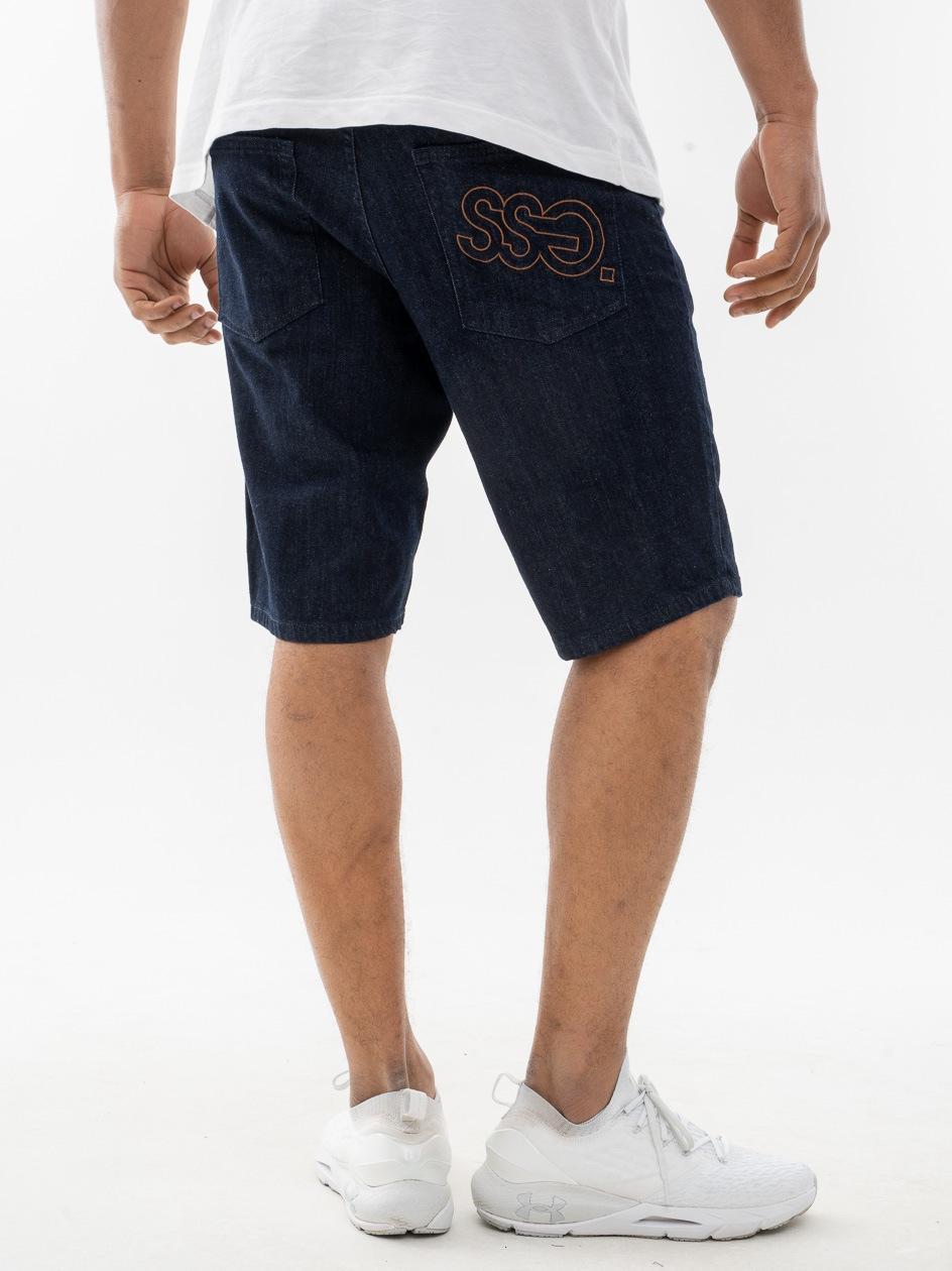 Krótkie Spodenki Jeansowe SSG Outline Ciemne Niebieskie