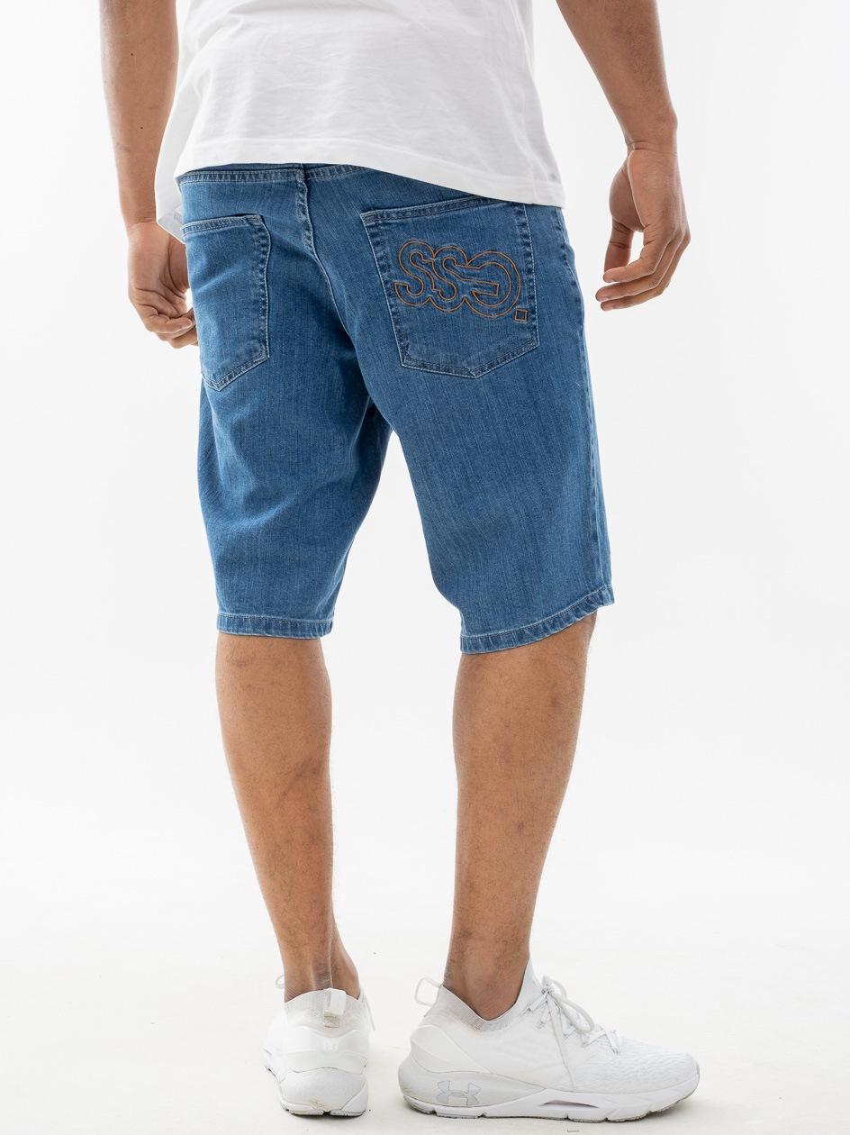 Krótkie Spodenki Jeansowe SSG Outline Jasne Niebieskie