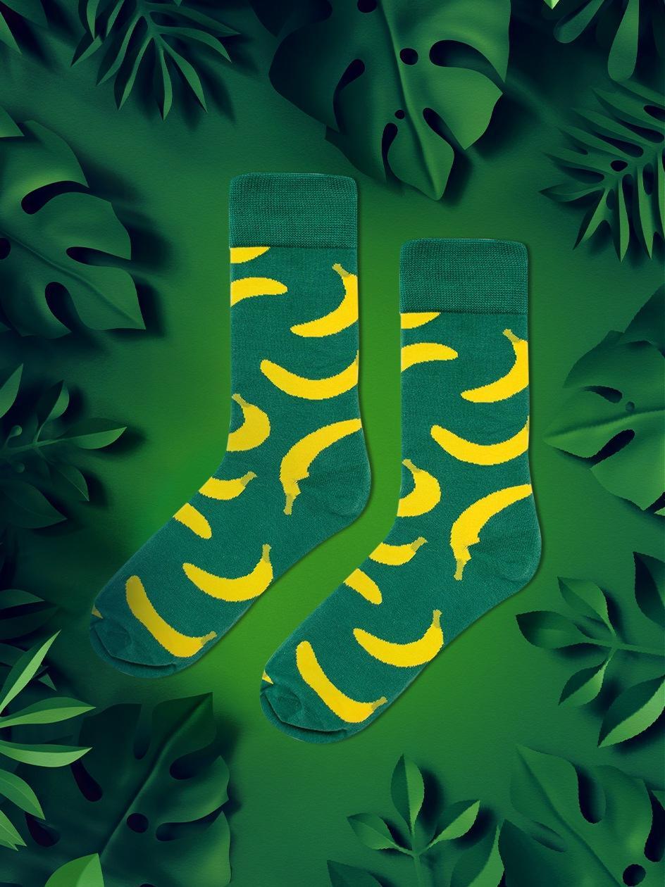 Długie Skarpety We Wzory MyStars x Blind Box Bananas Zielone
