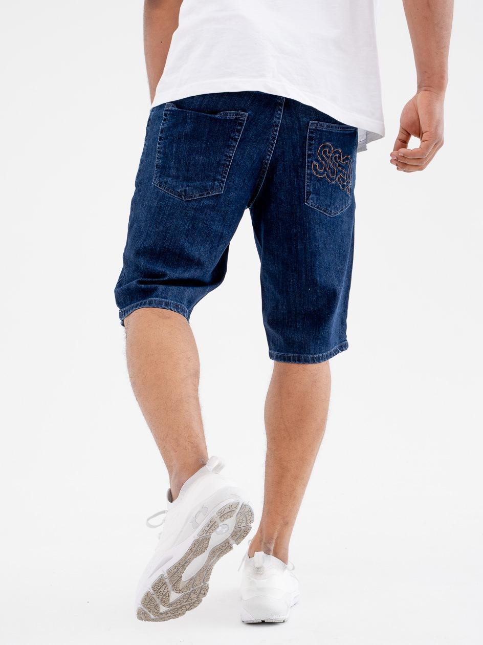 Krótkie Spodenki Jeansowe SSG Outline Niebieskie