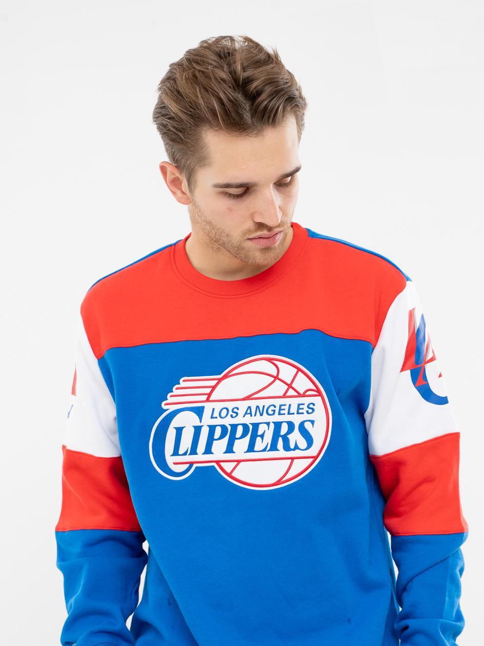 Bluza Bez Kaptura Mitchell & Ness Los Angeles Clippers NBA Perfect Season Niebieska