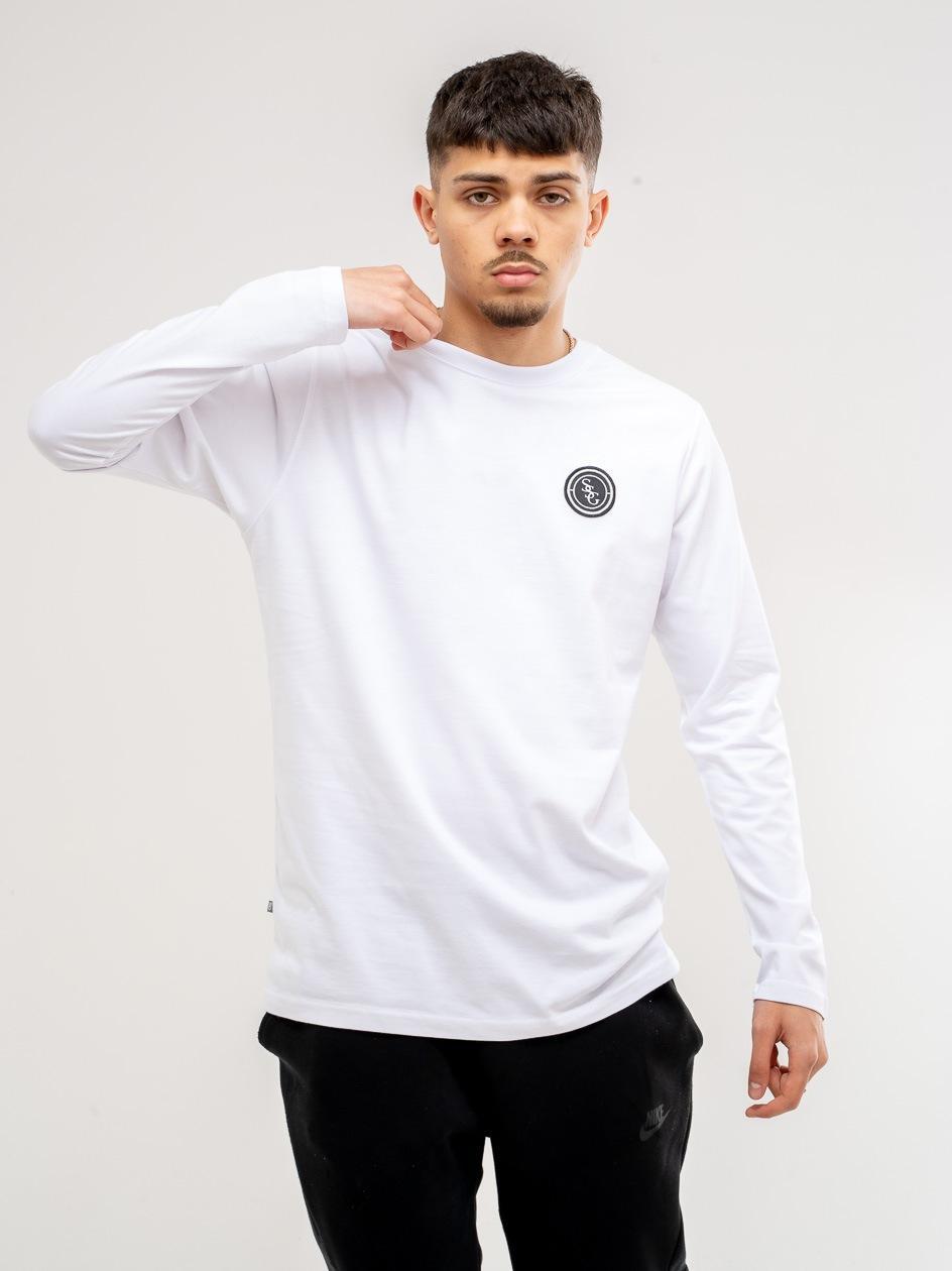 Koszulka Z Długim Rękawem Slim SSG Stripe Biała
