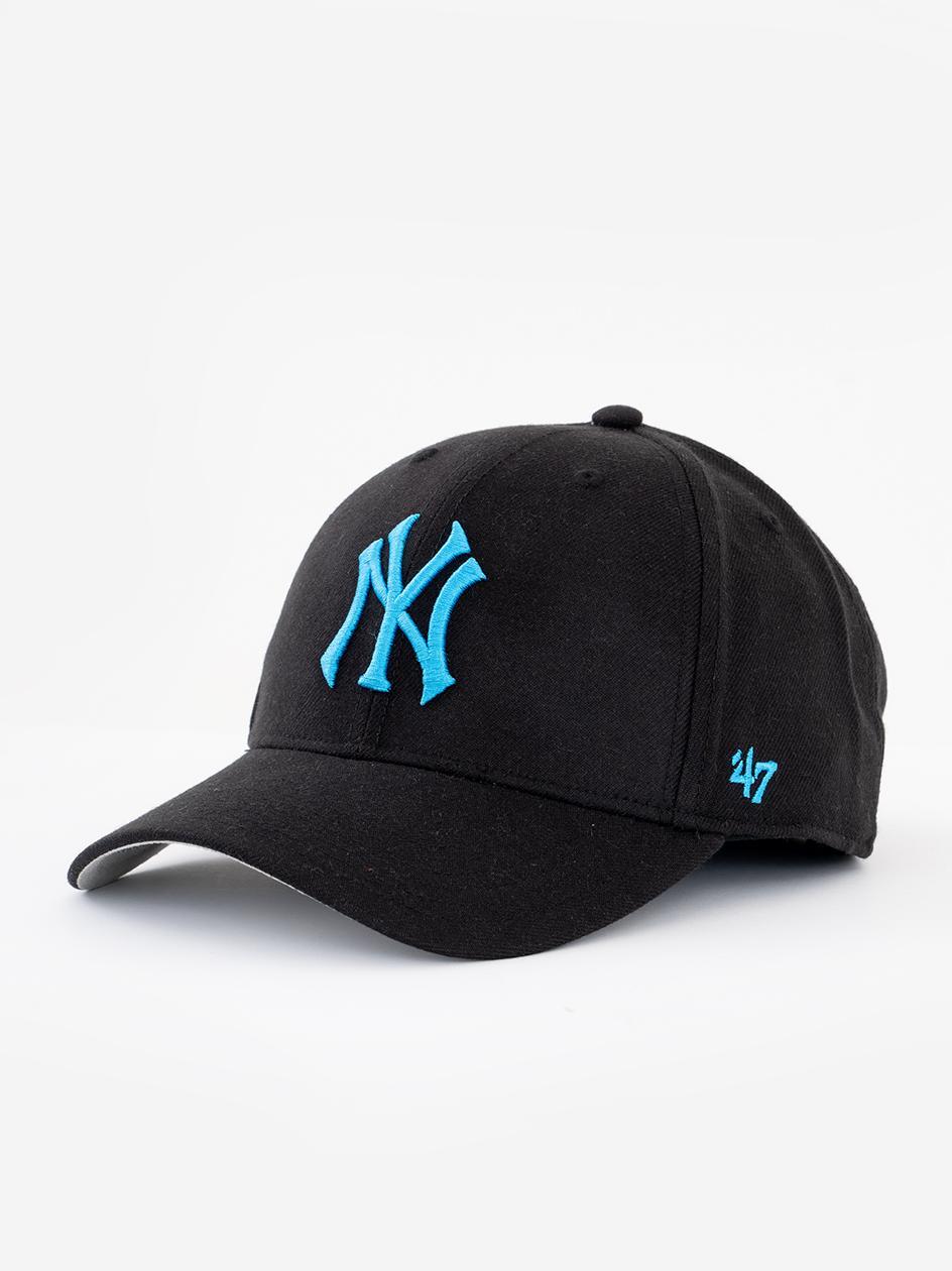 Czapka Z Daszkiem Snapback 47 Brand New York Yankees MVP Czarna / Niebieska