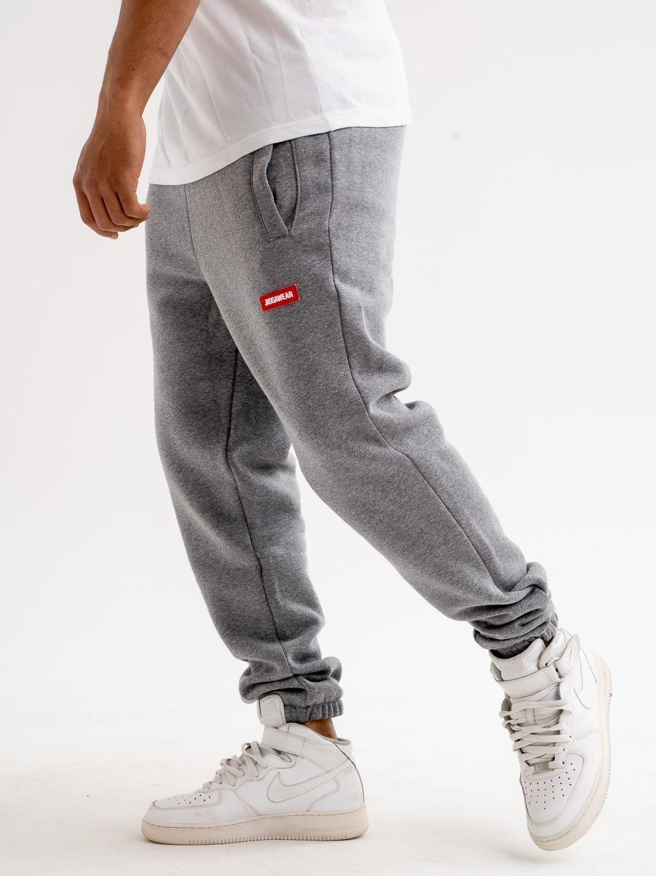 Spodnie Dresowe Jigga Wear Name Szare