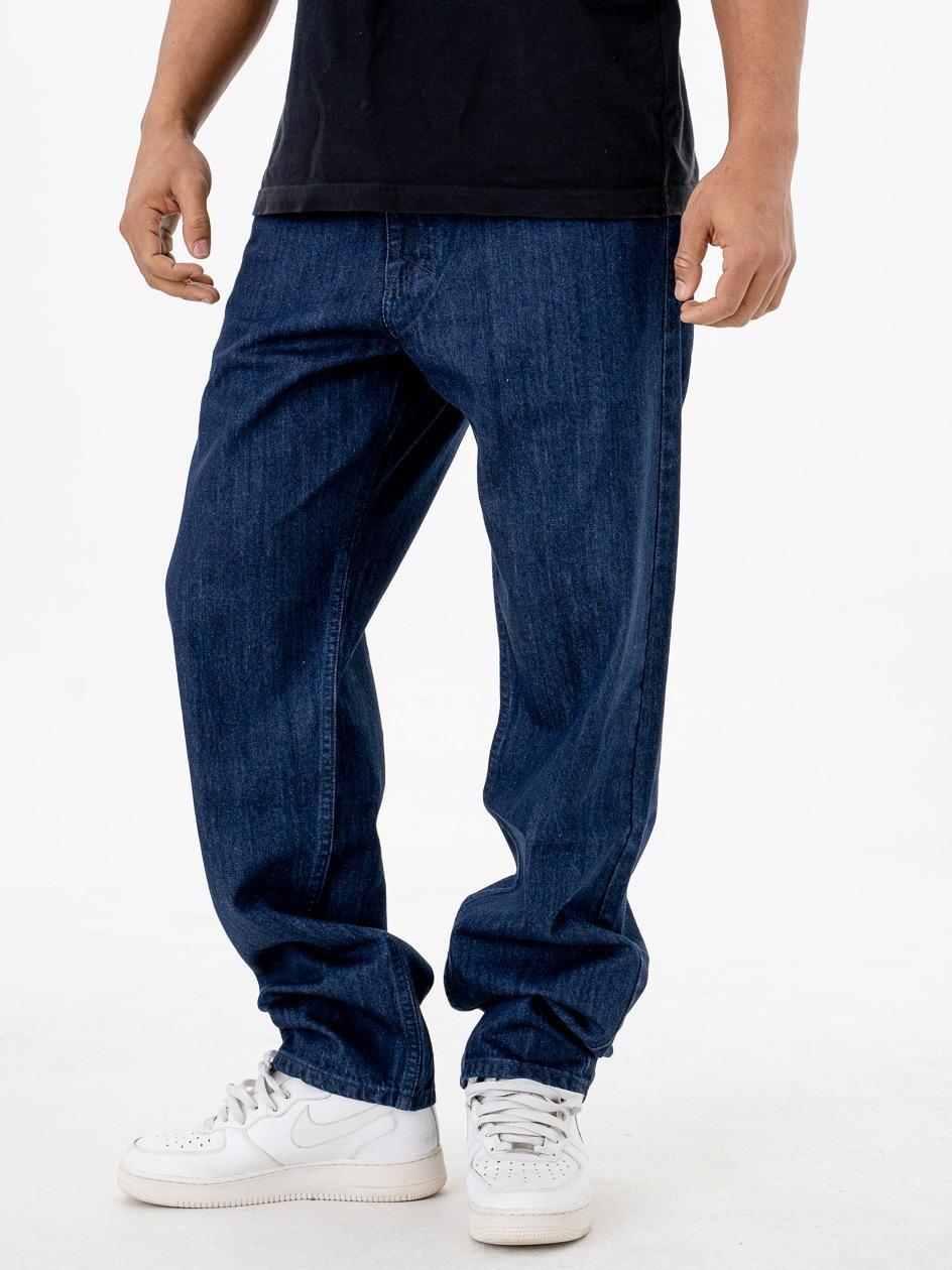 Spodnie Jeansowe Baggy Mass Craft Rinse Niebieskie