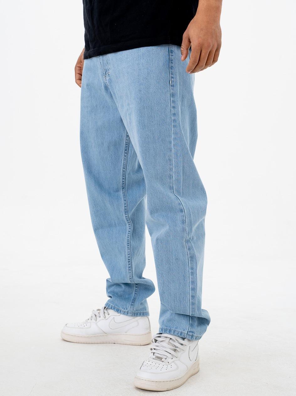 Spodnie Jeansowe Baggy Mass Craft Jasne Niebieskie