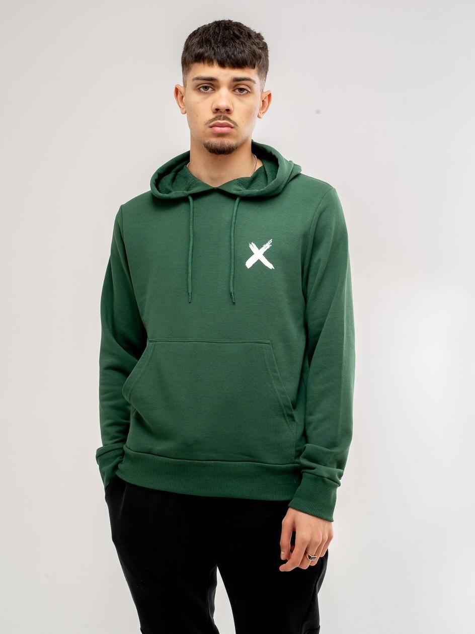 Bluza Z Kapturem Point X Small Logo Butelkowa Zielona
