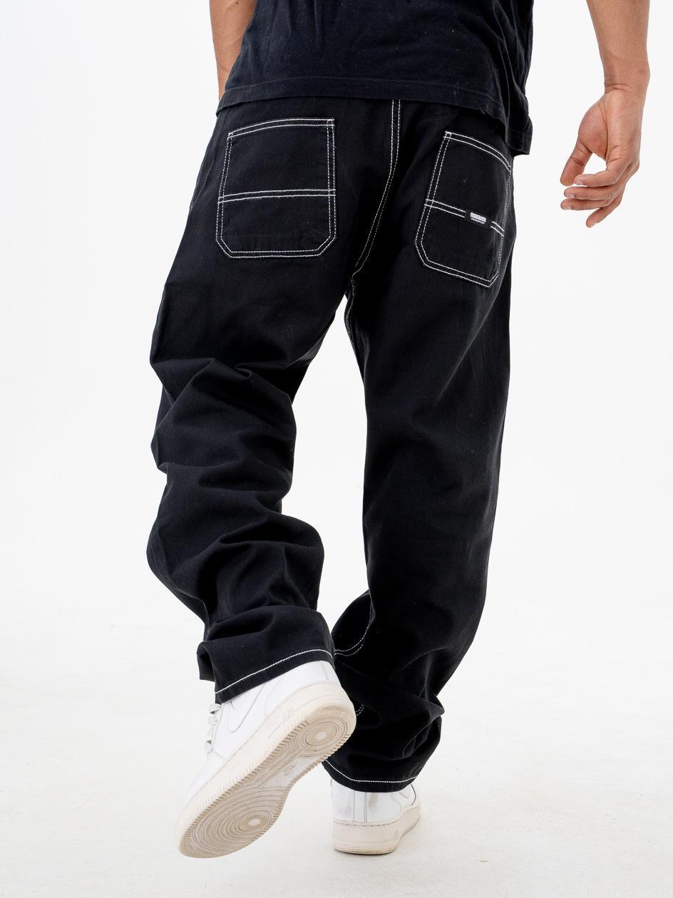 Spodnie Jeansowe Ze Ściągaczem Mass Block Czarne