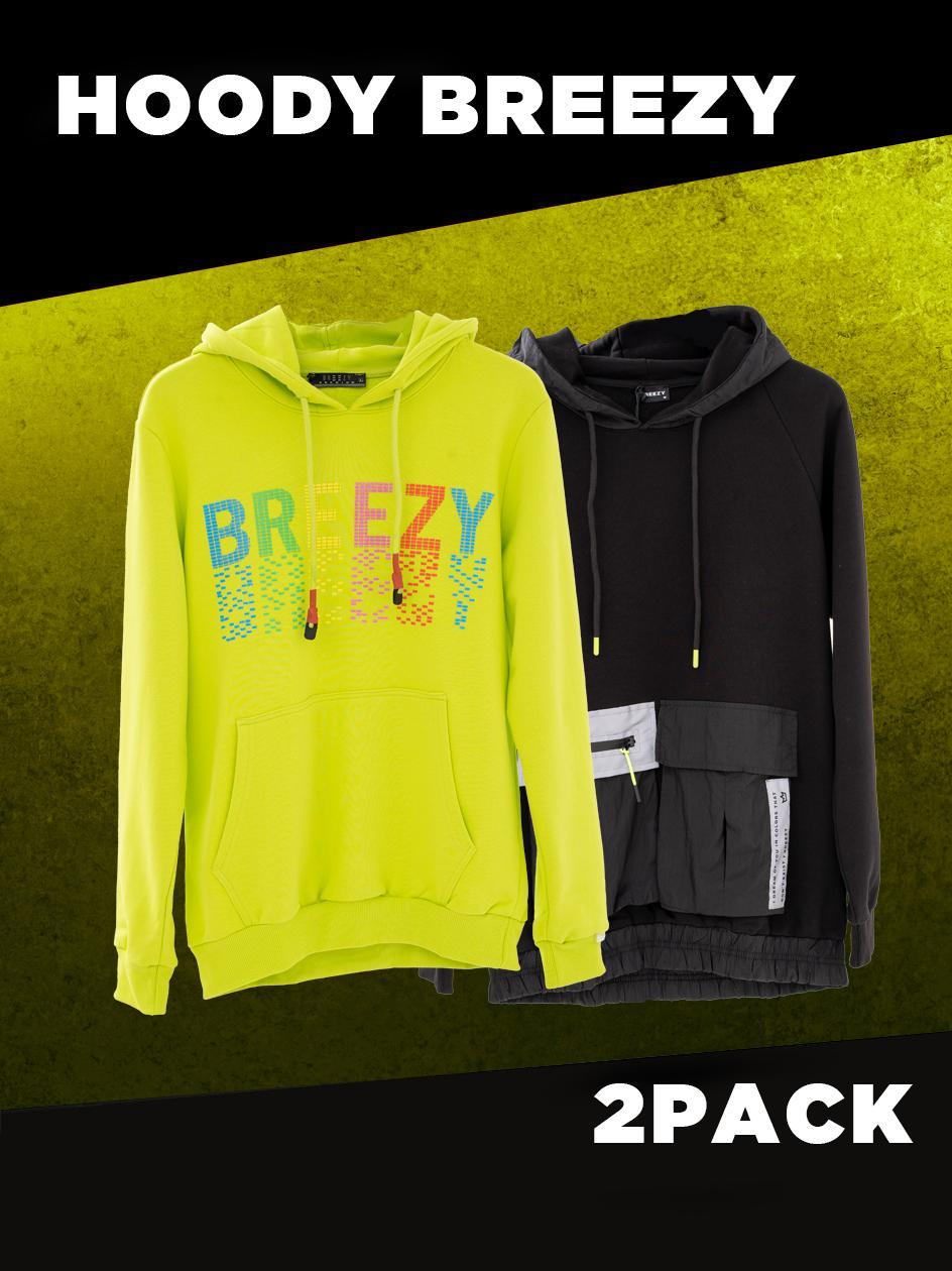 Zestaw 2 x Bluza Z Kapturem Breezy Blind Box