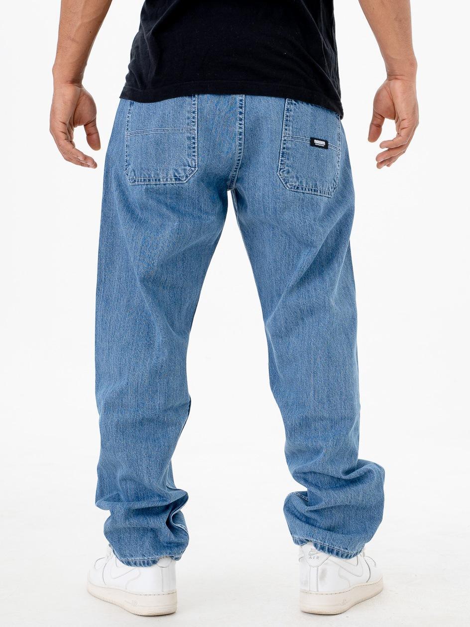 Spodnie Jeansowe Ze Ściągaczem Mass Block Niebieskie