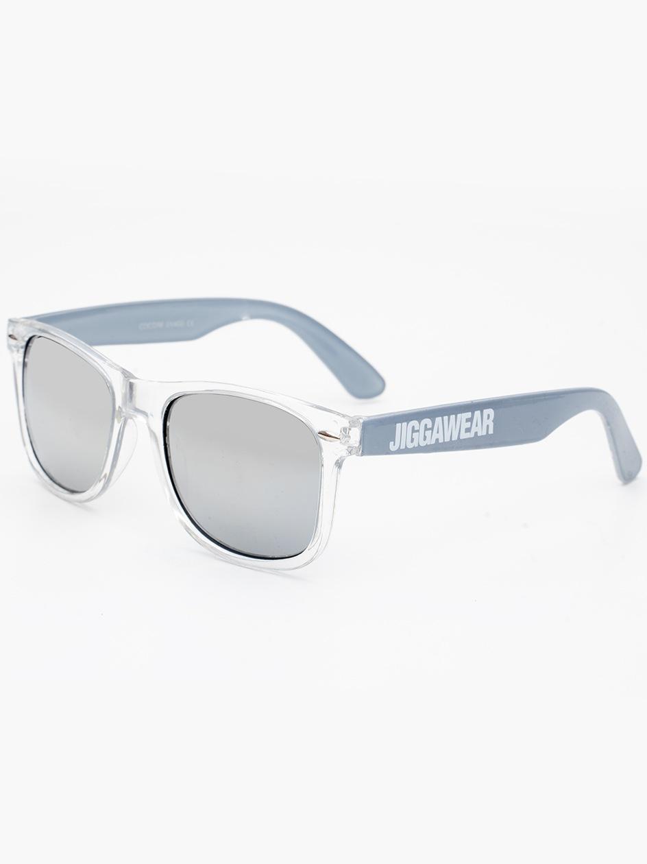 Okulary Przeciwsłoneczne Jigga Wear Name Contrast Wayfarer Szare