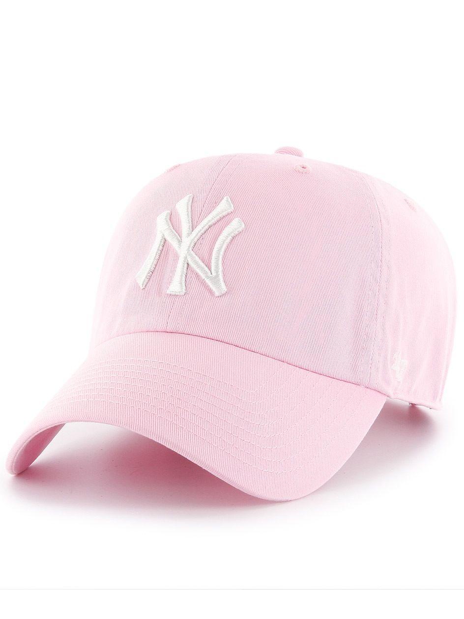 Czapka Baseball 47 Brand New York Yankees MLB Clean Up Różowa