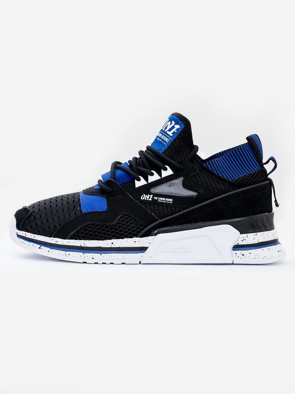 Buty Sportowe Li-Ning Shake Czarne / Białe / Niebieskie