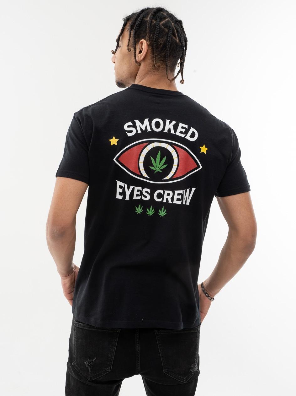 Koszulka Z Krótkim Rękawem Kush Smoked Eyes Crew Czarna