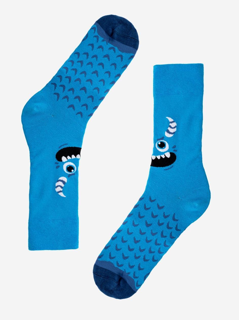 Długie Skarpety MyStars Monster Niebieskie