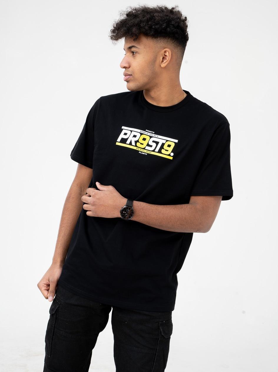 Koszulka Z Krótkim Rękawem Prosto FBorn 99 Czarna