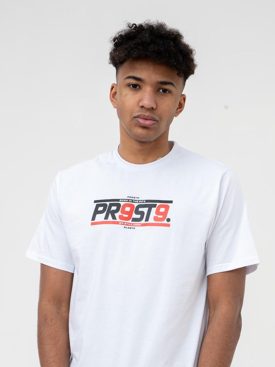 Koszulka Z Krótkim Rękawem Prosto FBorn 99 Biała