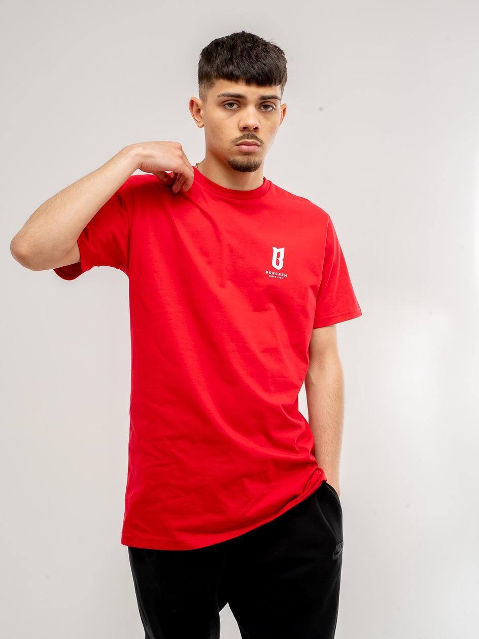 Koszulka Z Krótkim Rękawem BOR Basic Czerwone