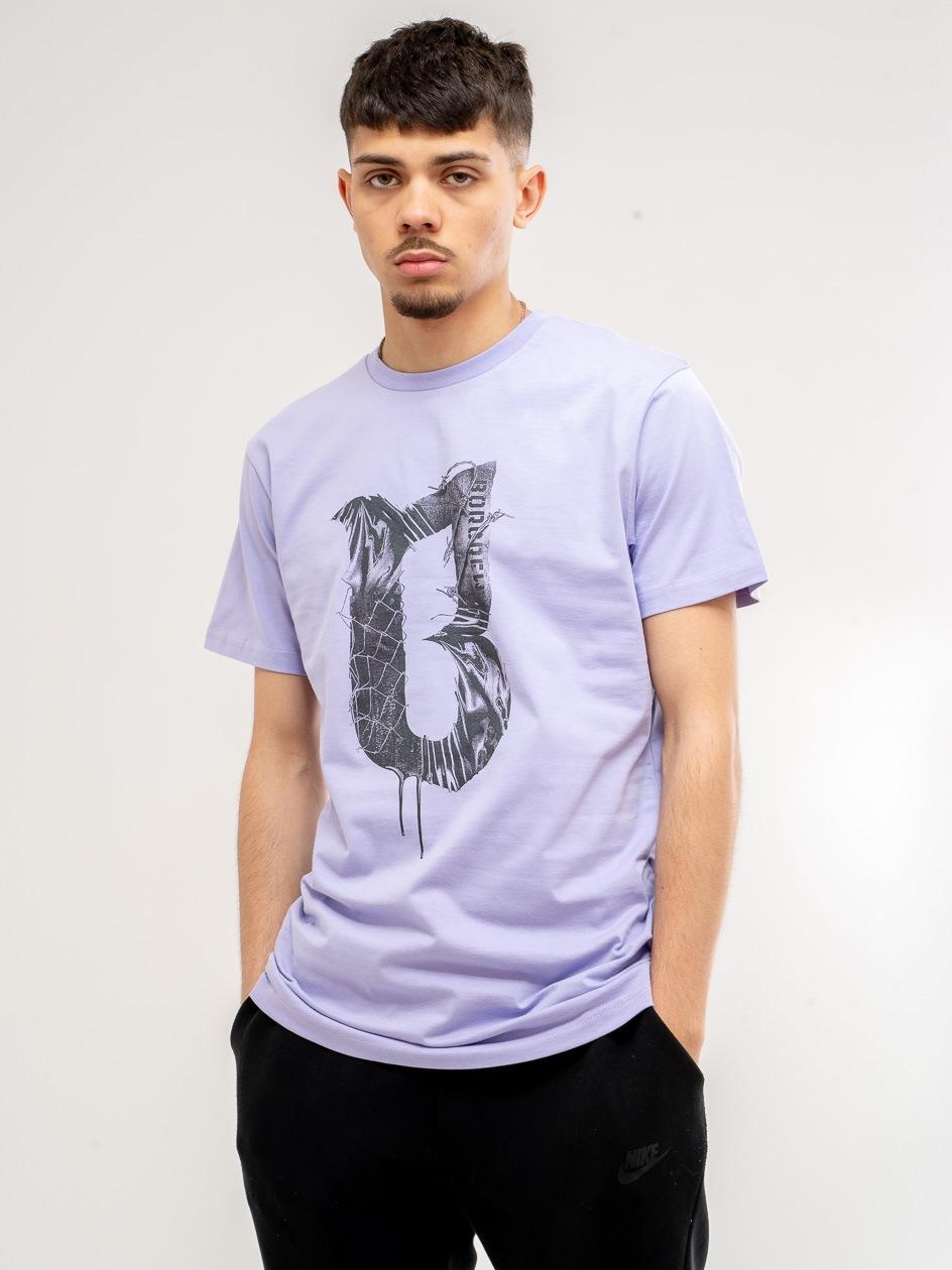 Koszulka Z Krótkim Rękawem BOR Concrette Fioletowa