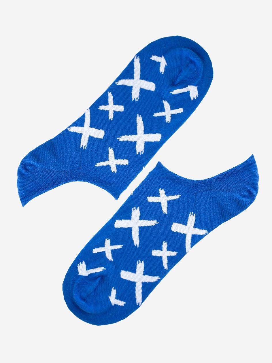 Skarpety Stopki Point X Pattern Niebieskie / Białe
