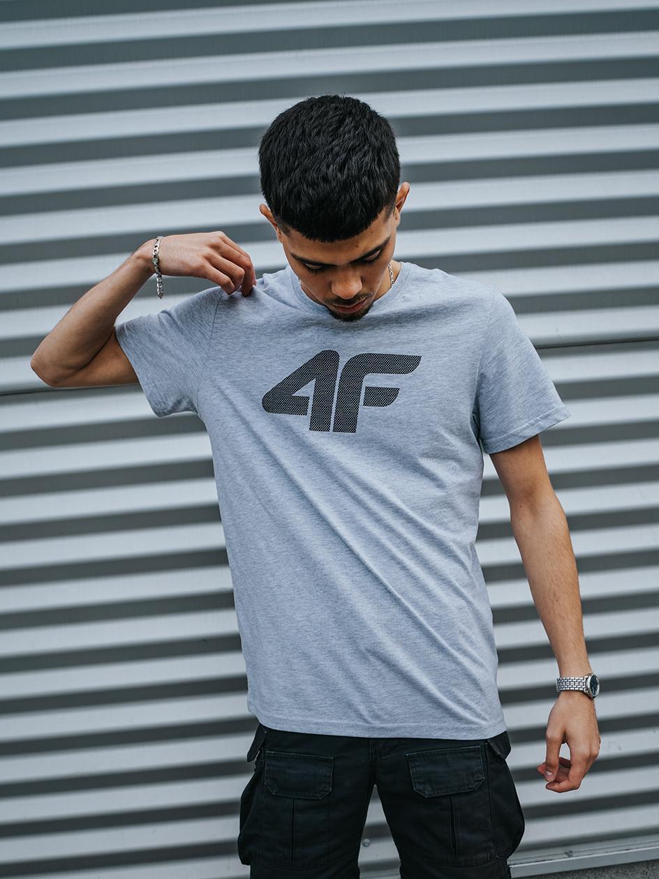 Koszulka Z Krótkim Rękawem 4F Dot Logo Szara