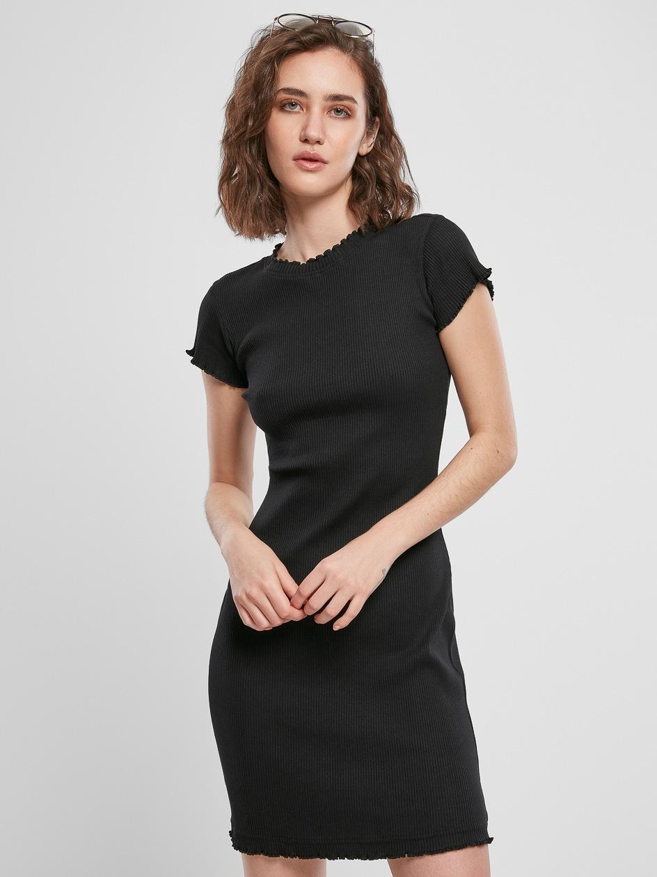 Sukienka Z Krótkim Rękawem Urban Classics TB3641 Czarna