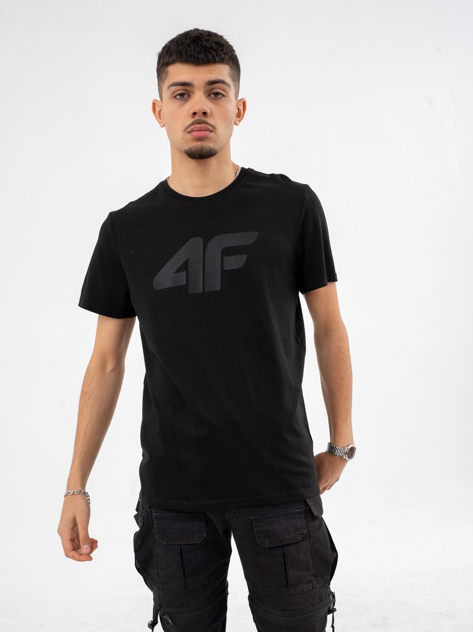 Koszulka Z Krótkim Rękawem 4F Dot Logo Czarna