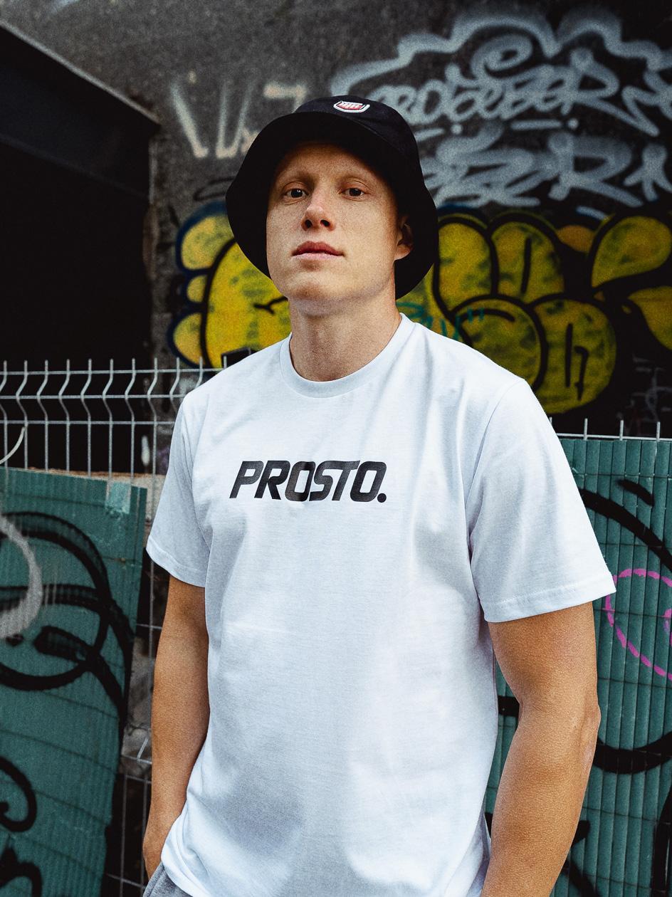 Koszulka Z Krótkim Rękawem Prosto Classic XXI Biała