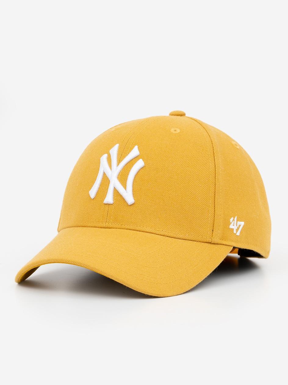Czapka Z Daszkiem Dad Hat 47 Brand New York Yankees MLB MVP Snapback Jasny Żółty Ciemny