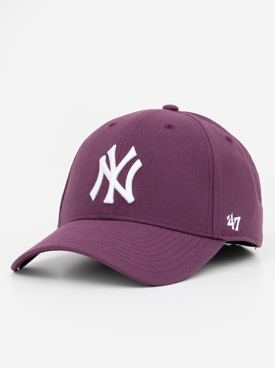 Czapka Z Daszkiem Dad Hat 47 Brand New York Yankees MLB MVP Snapback Fioletowa