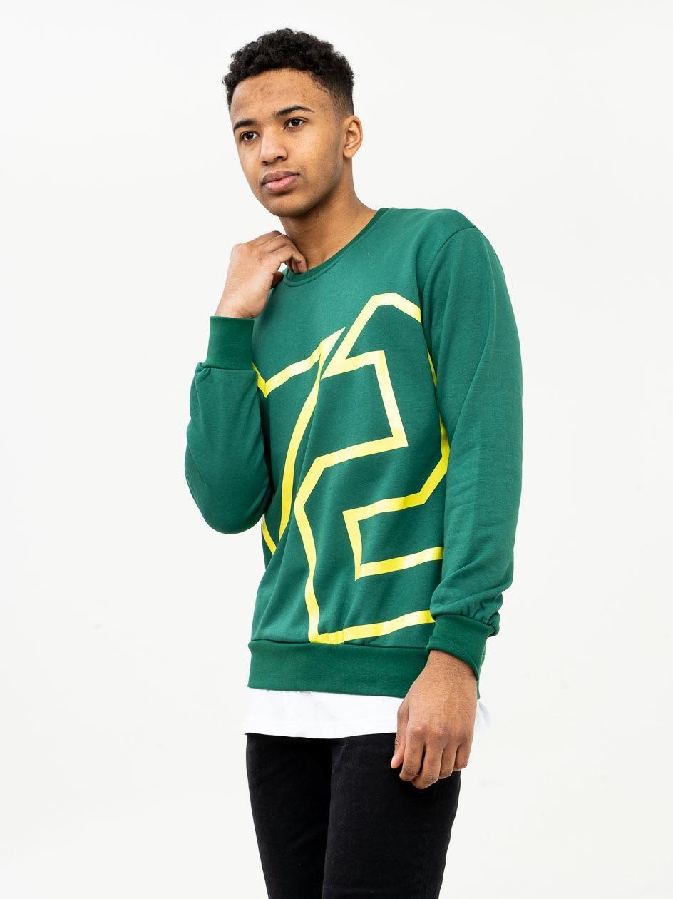 Bluza Bez Kaptura Plus Eighteen Star Ciemna Zielona