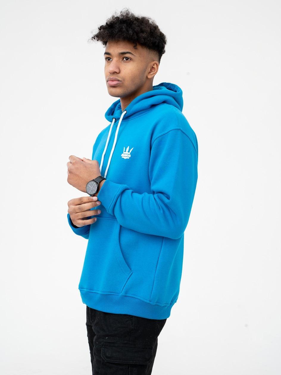 Bluza Z Kapturem Jigga Wear Crown Niebieska