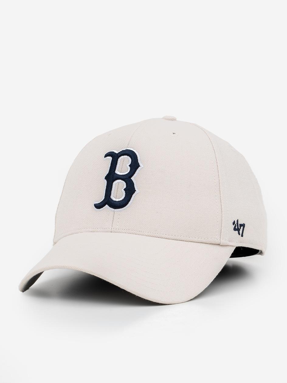 Czapka Z Daszkiem Dad Hat 47 Brand Boston Red Sox MLB MVP Jasna Szara