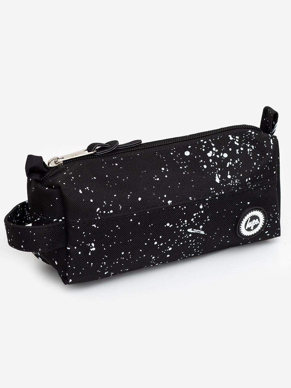 Speckle Pencil Case Black White