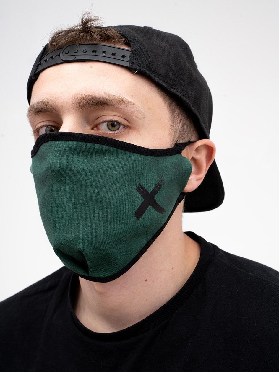 Maska Streetwearowa Point X Small X Ciemna Zielona