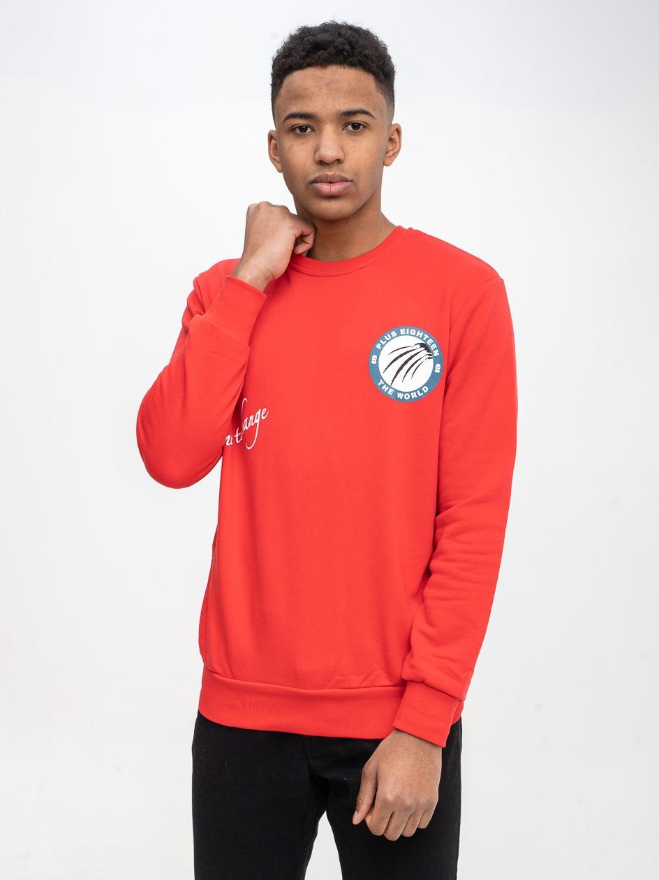 Bluza Bez Kaptura Plus Eighteen Time To Change Czerwona