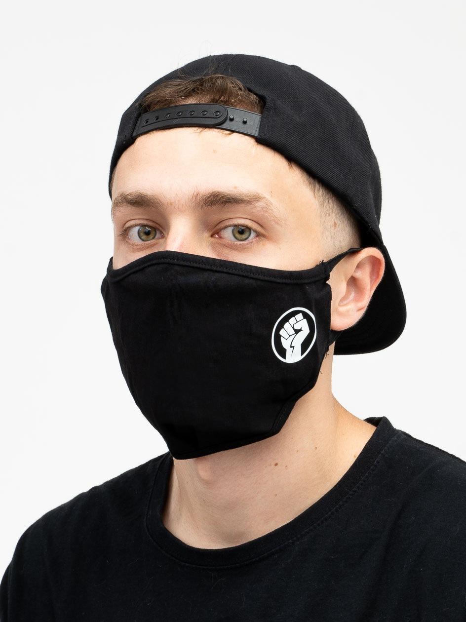 Maska Streetwearowa MyStars Fist Czarna