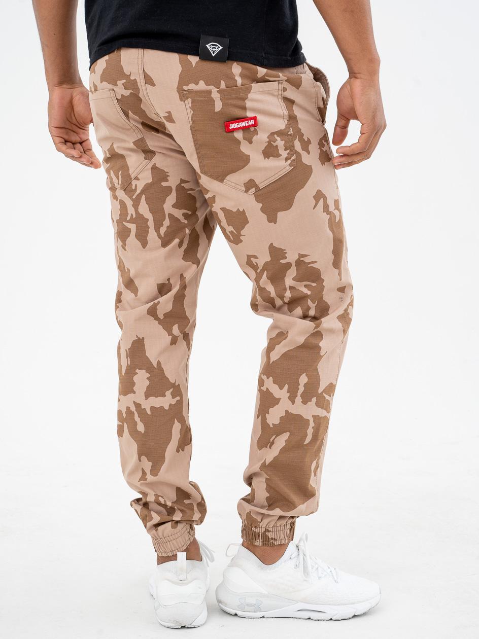 Spodnie Materiałowe Jogger Ripstop Jigga Wear Burr Name Desert Camo